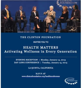 Getting ready to attend the Clinton Health Matters Conference in Palm Springs!! So Excited